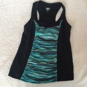 Racer back athletic tank top